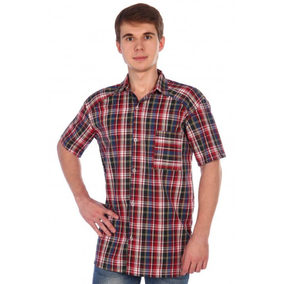 Рубашка мужская шотландка РШ-1