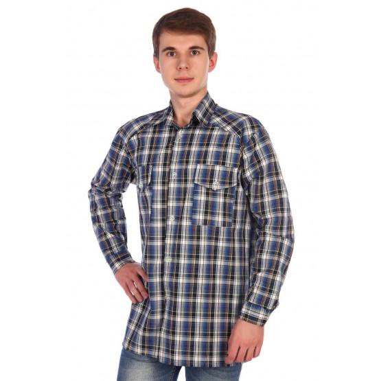 Рубашка мужская шотландка РШ-2