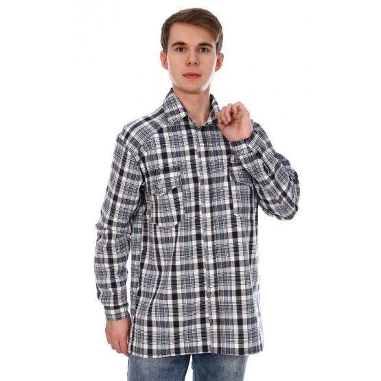 Рубашка мужская шотландка РШ-5